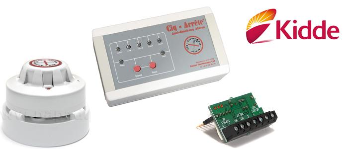 Czujki i detektory dymu papierosowego i ognia - system Cig-Arrete