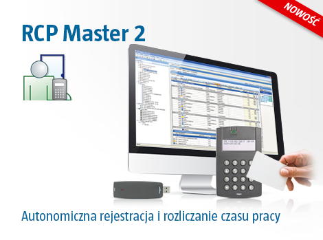 Oprogramowanie RCP Master 2 - rejestracji kontroli pobyt i czasu pracy